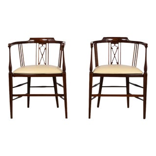 Pair of Antique Regency Style English Armchairs For Sale