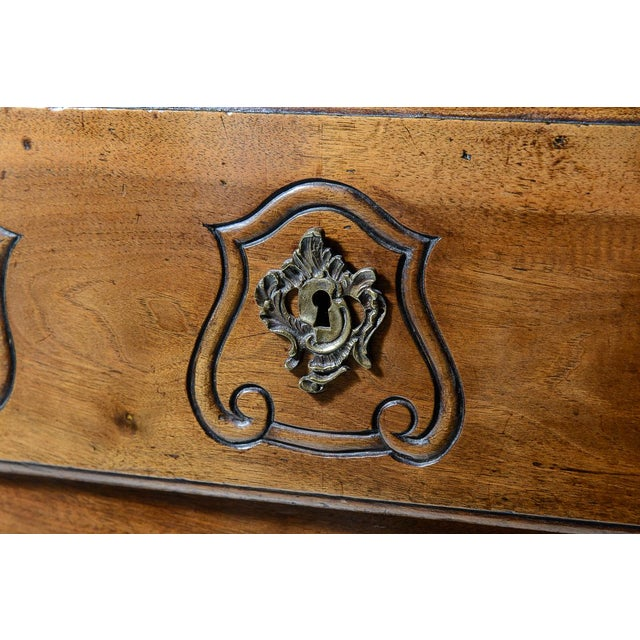 French Provincial Walnut Commode For Sale - Image 4 of 10