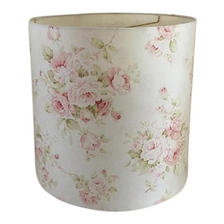 Shabby Cottage Chic Floral Drum Lampshade