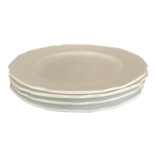 Vintage Indiana White Milk Glass Grapes Plates - Set of 4
