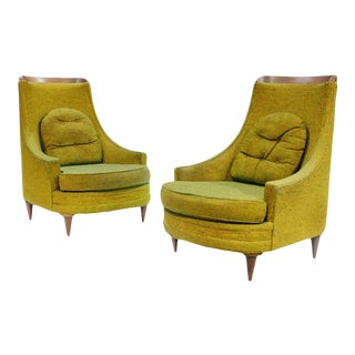 Mid-Century High Back Selig Imperial Lounge Chairs - a Pair For Sale