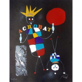 Wolfgang Roth Listed Circus Series. Litho - Acrobat For Sale