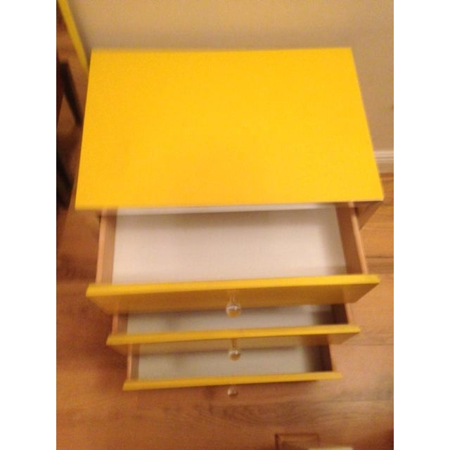 Mid-Century Modern Yellow Nightstands - A Pair - Image 6 of 6