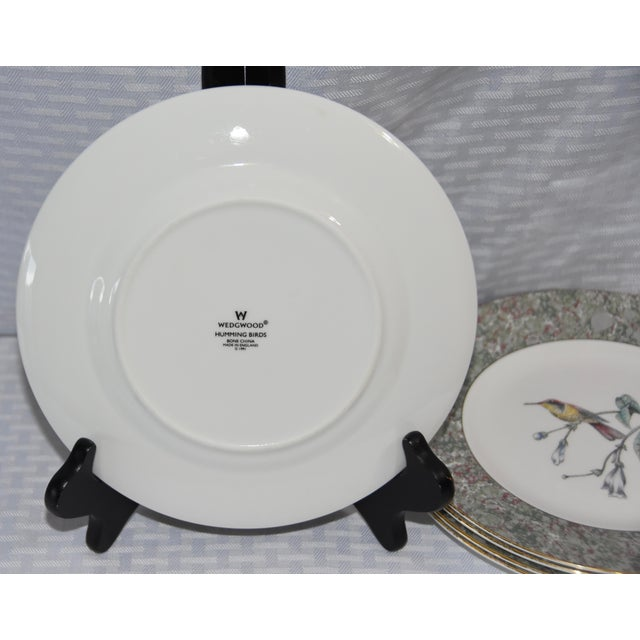 Wedgwood 1990 Humming Birds by Wedgwood Salad/Dessert Plates - Set of 5 For Sale - Image 4 of 7