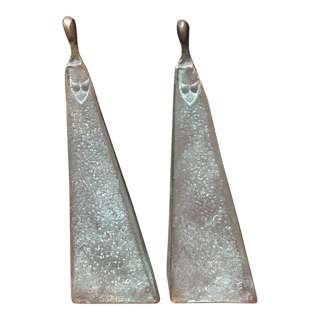 Bronze Modernist Female Figures - A Pair - Image 1 of 6