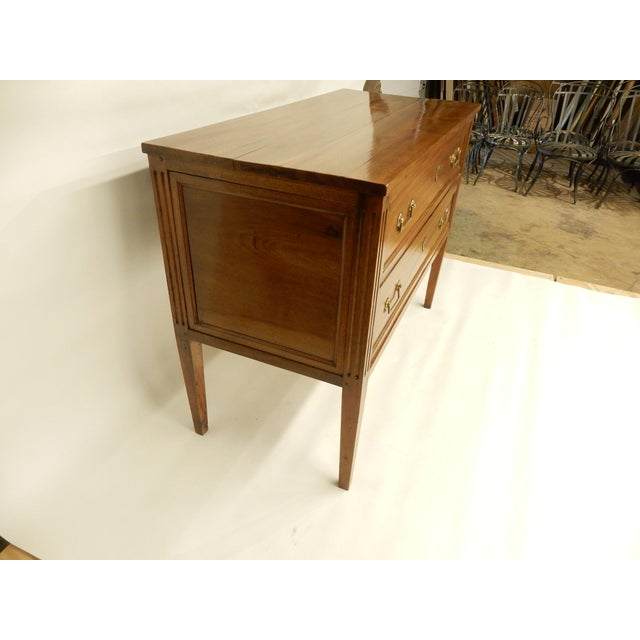 19th Century Louis XVI Walnut 19th Century Commode For Sale - Image 5 of 8