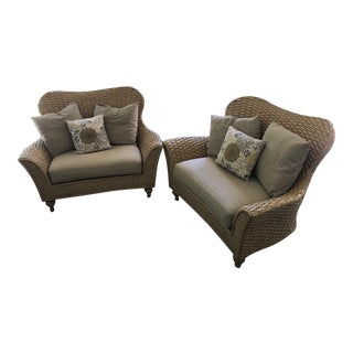 Lane Venture Cameroon Chairs - A Pair For Sale