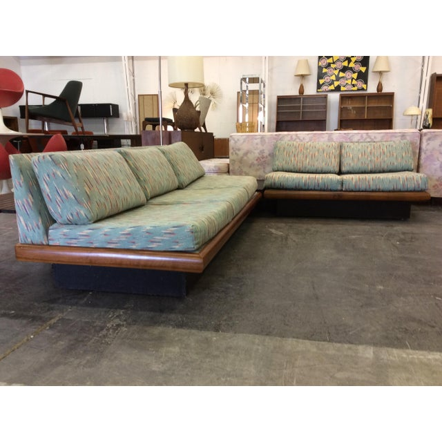 Mid-Century Modern Adrian Pearsall Craft Associates 3 Piece Sectional Sofa For Sale - Image 3 of 11