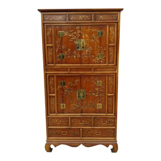 Dynasty Campaign Collection Storage Armoire for Drexel Heritage For Sale