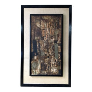 Framed Abstract Cityscape Serigraph Print by Dorothy Bowman For Sale