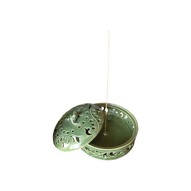 Handmade Ceramic Frog Incense Holder - Image 3 of 3