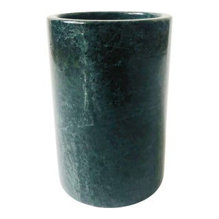 Vintage Green Stone Utensil Holder For Sale