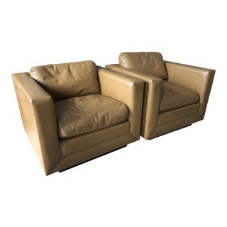 Stow Davis Cube Chairs - a Pair For Sale