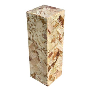 Post Modern Onyx Marble Pedestal For Sale