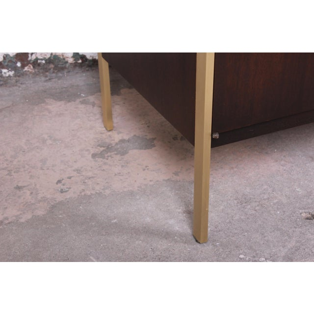 Paul McCobb for Calvin Mahogany and Brass Sideboard Credenza For Sale - Image 10 of 13