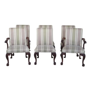 Baker Colonial Williamsburg Upholstered Dining Room Chairs - Set of 6