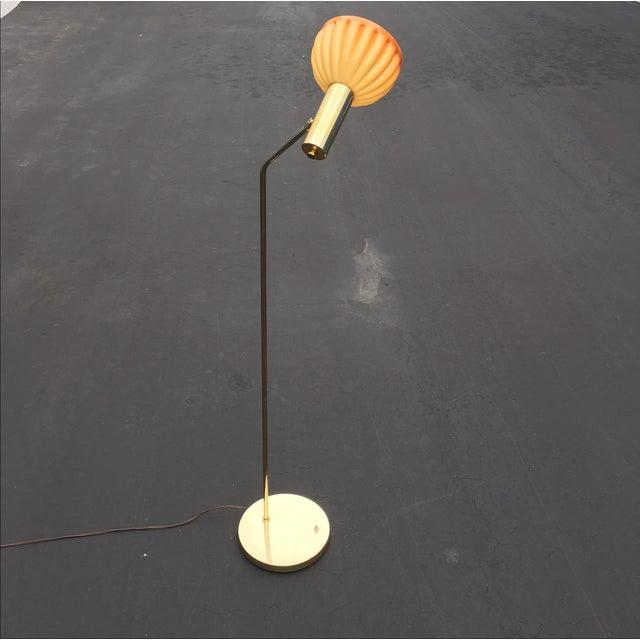 Mid-Century Brass & Acrylic Floor Lamp - Image 5 of 9