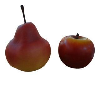 1970's Monumental Post Modern Pop Art Ceramic Fruit-2 Pieces For Sale
