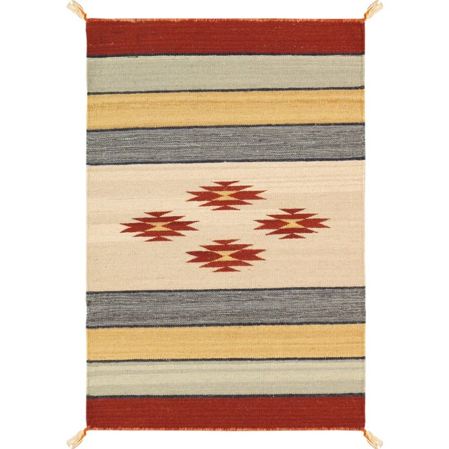 "Navajo Decorative Hand-Woven Rug- 2' X 3' 1"" - Image 1 of 2"