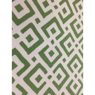 Serena & Lily Grass Green Lattice Fabric For Sale