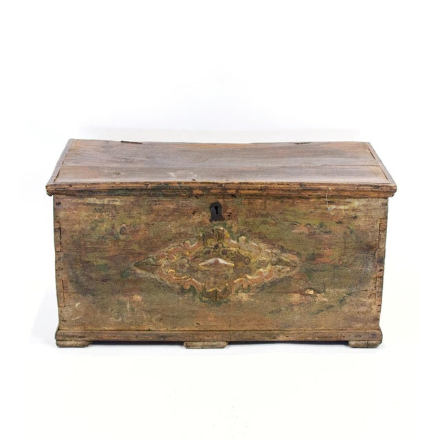 1900 - 1909 Antique Turkish Dowry Chest For Sale - Image 5 of 5