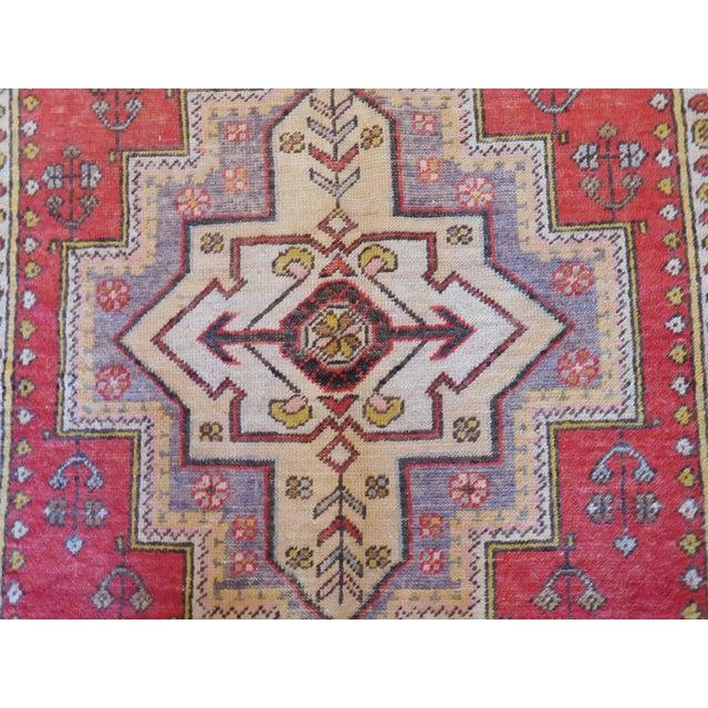 Vintage Turkish Oushak Rug - 4′ × 6′ For Sale - Image 4 of 5
