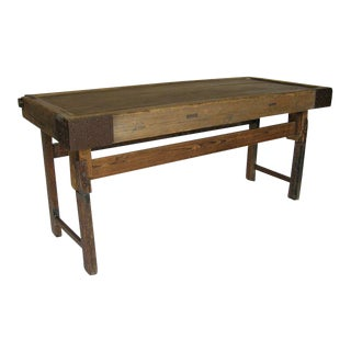 Japanese Tea Table Console With Iron For Sale