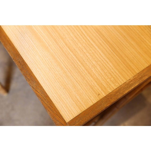 Wood Bamboo Desk and Chair For Sale - Image 7 of 11