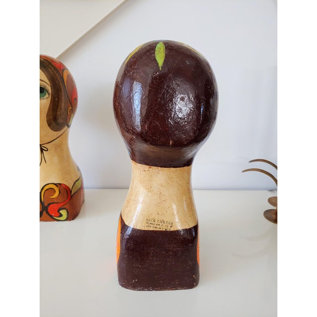 1960s Faux Italian Ceramic Bust For Sale - Image 4 of 7
