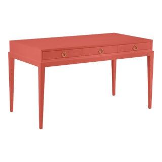 Hayes Desk, Crimson, Ring Brass Pulls For Sale