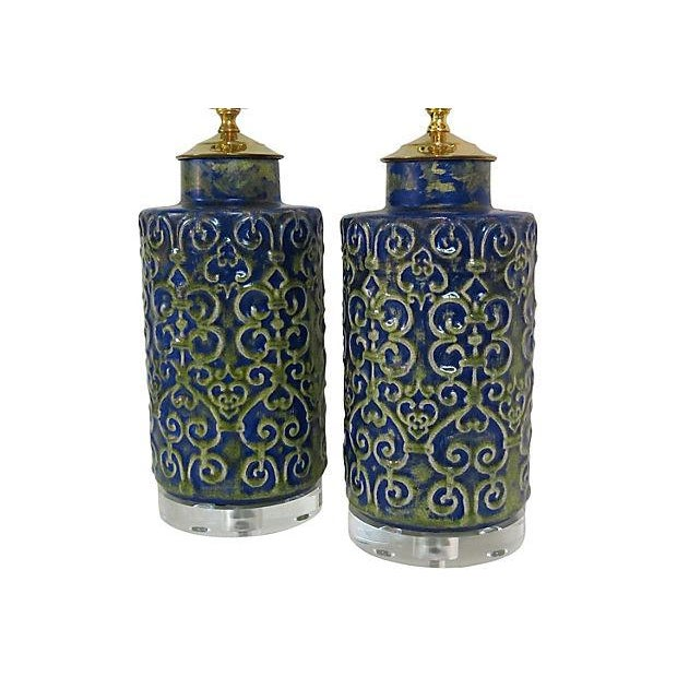 Regency Ceramic Lamps - A Pair - Image 2 of 3