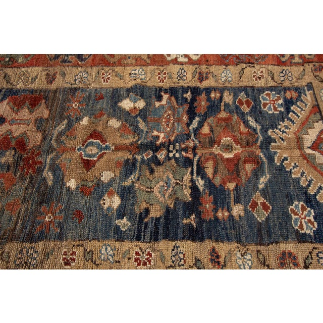 "Vintage Persian Tribal Bakshaish Rug, 3'3"" X 10'10"" For Sale - Image 10 of 11"