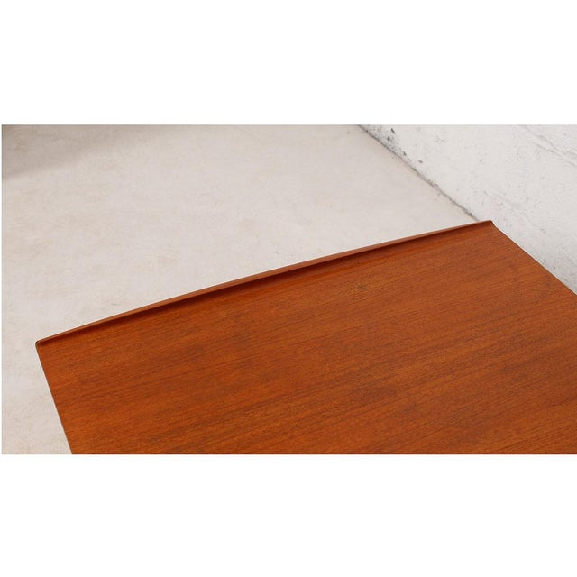 Grete Jalk Teak End Table with Raised Lip Edge For Sale In Washington DC - Image 6 of 9
