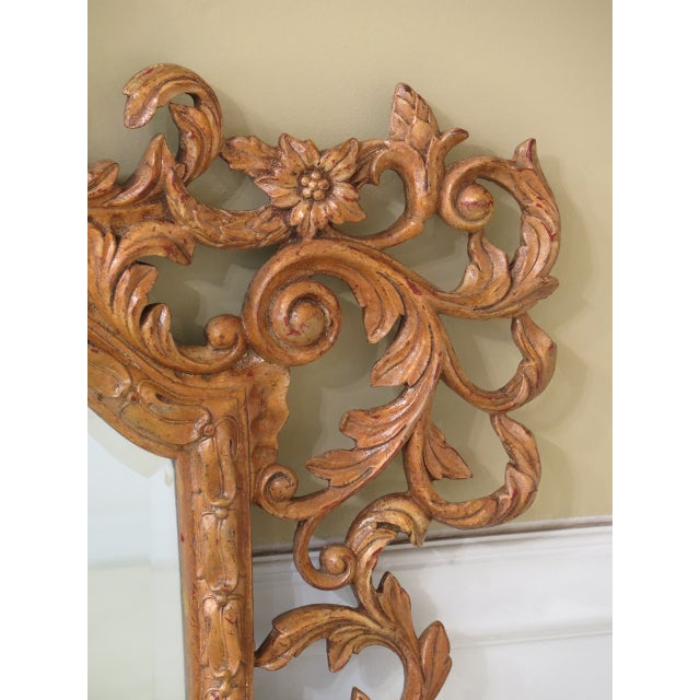 Gold Theodore Alexander French Style Paint Decorated Mirror For Sale - Image 8 of 11