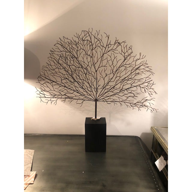 2010s Black Metal Coral Decor For Sale - Image 5 of 5