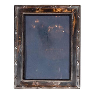 Elegant Sterling Silver Ribbon and Reed Picture Frame