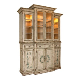 Neoclassical Two-Piece China Cabinet For Sale