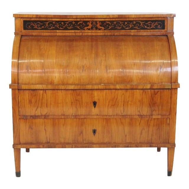 19th C. Biedermeier Cylinder Desk - Image 1 of 10