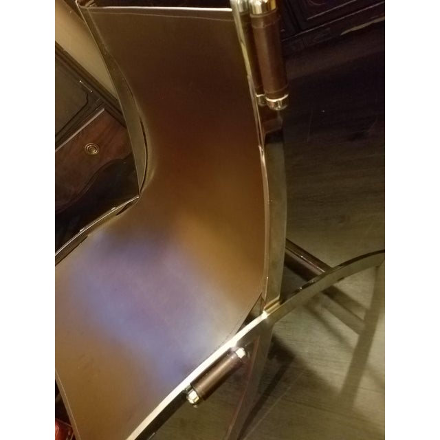 Mid-Century Modern Mid-Century Modern Style Leather Sling & Chrome Chairs - a Pair For Sale - Image 3 of 10