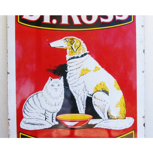 1930s Dr. Ross Dog & Cat Food Advertising Sign - Image 4 of 8