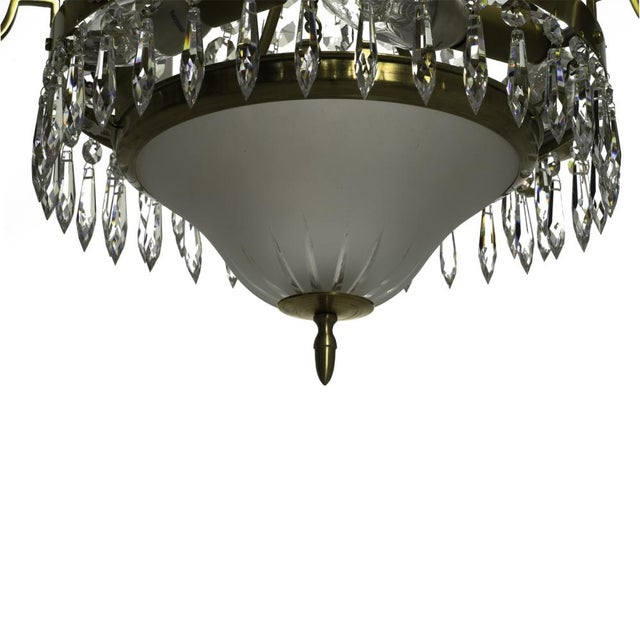 Gustavian (Swedish) Classic Swedish Crystal Chandelier For Sale - Image 3 of 7