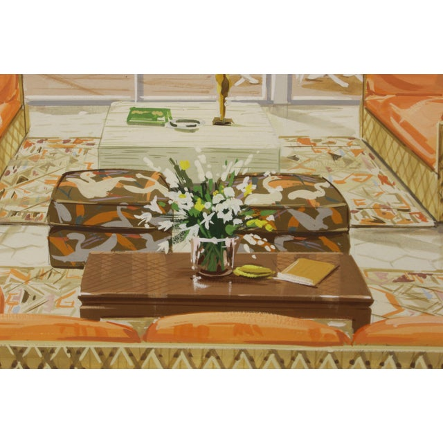 Tropical-Inspired Retro Living Room Painting For Sale - Image 5 of 6