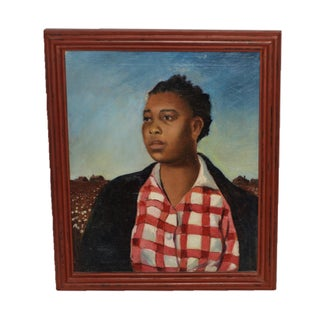 Iva Goldhamer Oil Painting of African American Woman For Sale