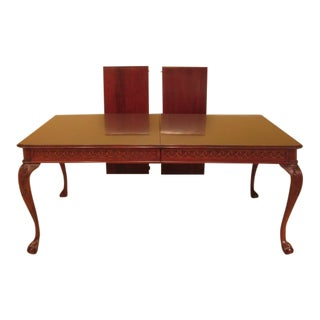 1990s Vintage Pennsylvania House Ball & Clawfoot Cherry Dining Table For Sale