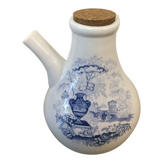 Vintage Blue and White Ironstone Inhaler/ Apothecary For Sale