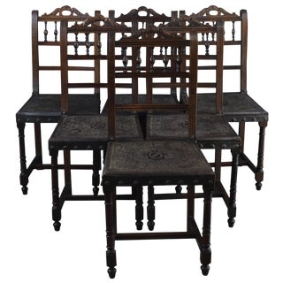 Dining Chairs Henry II Antique French Renaissance - Set of 6 For Sale