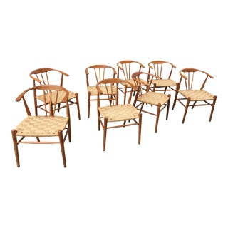 1960s Vintage Danish Dining Chairs- Set of 8 For Sale