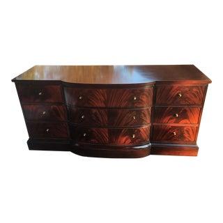 Baker Furniture Nine Drawer Mahogany Dresser Sideboard For Sale
