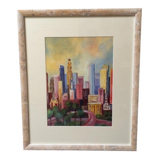 Mid-Century Cityscape Painting For Sale
