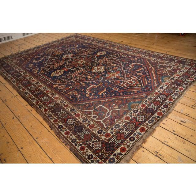 """Blue Vintage Shiraz Carpet - 7'3"""" X 10'2"""" For Sale - Image 8 of 13"""